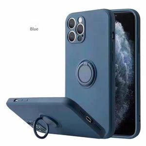 Porte-bague TPU TPU Coque TPU pour iPhone 12 11 PRO Max XS XR X Plus Huawei P40 Caméra Protecteur de la caméra
