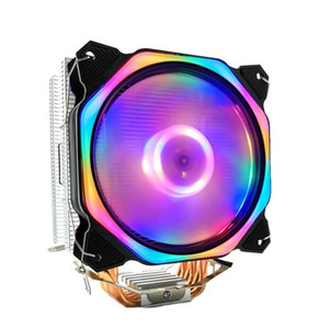 12cm CPU Cooler LED Fan 6 Heat Pipe 4Pin CPU Fan Heatsink for Intel 775 1150 1155 1156 1366 for AMD All