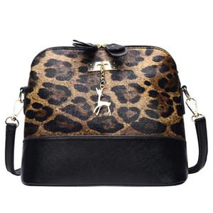 Mujeres Leopardo Estampado Crossbody Bolsa Canjero Colgante Cáscara Hombro Bolsa Messenger Messenger Bags Ladies Handbag 2020 Nuevo