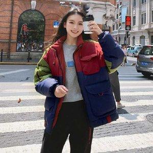 2020 Новое поступление Нет регулярных твердых молнии регулярных стандартных полных хлопка Office Lady Broadcloth China (Mainland) Parkas1