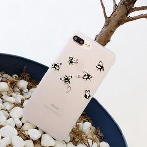 Case Phone 6s 7 8 плюс телефон x мода мультфильм красивая цветочная бабочка пчел мягкий ТПУ для телефона6 6 s 6plus крышек