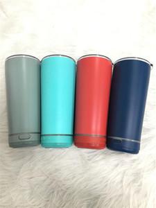 8 cores 18oz nova chegada ao ar livre portátil Bluetooth garrafa de água à prova d 'água parede dupla parede de aço inoxidável copo de música presente