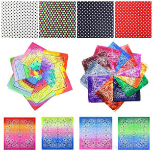 hot 7 styles Tie dye Bandana double square gradient hip-hop headscarf printed colorful Head Scarf 55*55cm Party Favor 600pcs DHB411