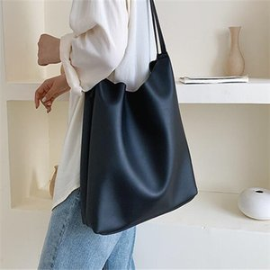 mm Single shoulder bag large capacity women's bag 2020 new fashion web celebrity simple tote bag versatile female college students class