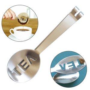 Riutilizzabile Borsa da tè in acciaio inox Pinze Taibag Squeezer Strainer Holder Grip Metallo Cucchiaio Mini Zucchero Clip Tè Foglia del filtro