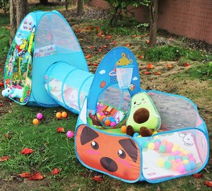 Portable Play Kids Tent Animal Dog Giraffe tunnel tent Children Indoor Outdoor Ocean Ball pool game tent Castle Room House toy