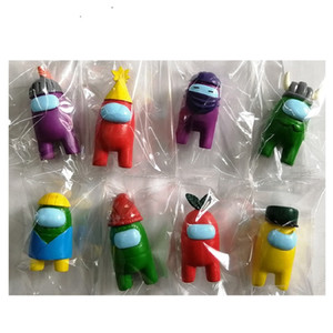 8 teile / set unter uns spielzeug anime figur mini karton modelle action spielzeug figuren spiel diy dekoration kapsel puppen blind box
