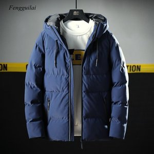 Thick Parka Men Jacket Coat 2020 New Brand Hooded Cotton Parkas Men Solid Hooded Pocket -20 Degree Parka