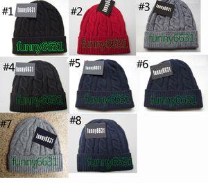 10 unids invierno mujer gorro hombre fresco moda sombreros mujer tejer sombrero unisex sombrero cálido clásico marca marca sombrero 8 colores gota envío