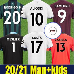 Erkekler + Çocuklar 20 21 Leeds Home Futbol Forması 2020 2021 Harrison Costa Alioski Klich Hernandez Bamford Rodrigo Costa Üçüncü 100