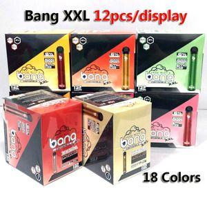 Bang XXL 2000 sbuffi monouso VAPE E Sigaretta Dispositivo monouso 800mAh 6ml Stick monouso Penna Vape 18 Colori 12 Count / Box