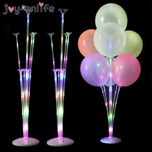 1 / 2set Воздушные шары светодиодный свет воздушный шар держатель стойки для воздушных шаров на русском языке день рождения декор украшения ребенка взрослый свадебный стол баллон