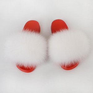Summer Furry Slippers Big Size House Zapatos Ladies Peluche Fluffy Slide Sandals Mujeres Sexy Mules Plana Piel Real Flip Flop1