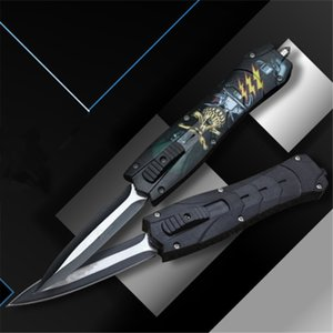 Flexible Pocket Knife 5Cr13Mov Blade 57HRC Hardness Brushed Titanium Surface ABS Handle Folding Tactical Knives For Outdoor Hunting EDC Tool
