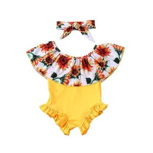 Toddler Baby Girl Kids Floral Print Bikini Swimwear Swimsuit Bathing Beachwear