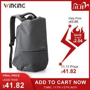 Kingsons новые многофункциональные USB зарядки мужчин 15 дюймов ноутбук рюкзаки для подростка мода мужской мочила путешествия рюкзак против вора
