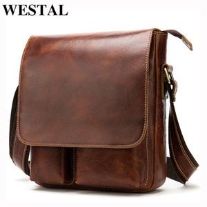 Westal Crazy Horse Leder Messenger Bags Männer Echtes Leder Umhängetaschen Für Männer Mode Männer Messenger Bags Männlich 8559