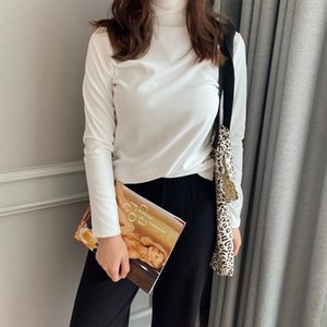 [8-Color Thickening Cationic Base Shirt] Winter Style Boutique Underwear WOMEN'S Dress Pullover High Collar Long Sleeve Warm Coa