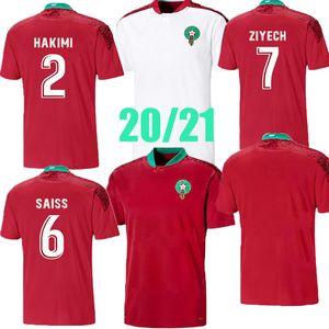 Топ 2020 2021 Марокко футбол для футбола домой домой 20 21 Maillot de Zieech Boufal Fajr Munir Bennasser Amrabat футбольная рубашка