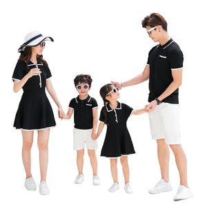 Madre e hija Vestido de tejer Trajes a juego Familia Hijo y mamá Camisas Padre Papá y Ropa de niño Vestido de verano A5256