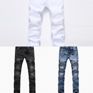 gjAe8 New Mens Distressed Ripped Biker Jeans high quality Slim Fit Motorcycle Biker Best For Men Fashion stylist big and tall jeans for