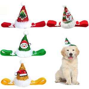 Nouvel An Mignon Cosplay Cosplay Costume Costume Elastic Glitter Pet chapeau Chat Grand chien Noël Partie de Noël Décoration Pet Apparel Capuchon d'anniversaire