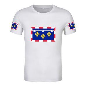 Centro Val de Loire T Shirt Libre Custom Hecho a medida Número Número Valley Camiseta Orleans Imprimir Bandera Palabra Francesa Cher Indre Loiret Ropa