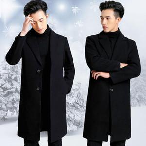 Cultiver la moralité Jeune manteau de tissu mâle saison de la longue saison et épaissir la manteau de poussière de tissu de laine hautes-genoux ABB