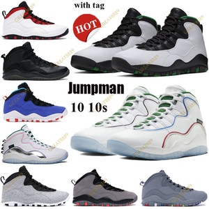 NOUVEAU 10 10S Jumpan Chaussures de basketball SEATTLE WINGS POUDRE HOMMES Femmes Sneaker Athletic Chicago Drake Ovo Black Classe de 2006 Tapeur Tag
