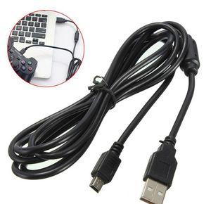 1.8 m USB Güç Şarj Tel Şarj Kablosu PlayStation 3 için PS3 Denetleyici Aksesuarları için Siyah Yüksek Kaliteli Hızlı Gemi