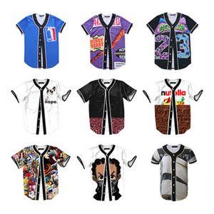 Mens Buttons Hip 3d Shirt Jersey Flower Prince Tees Hop Clothing Homme Chill Custom Shirts Baseball Streetwear Made Lolvs