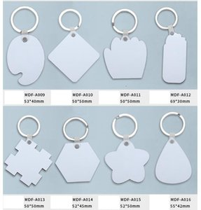 Sublimation MDF Heart Round Love Key Chains Printing DIY Blank Thermal Transfer Material Party Gift EWF1487 20AJ0S