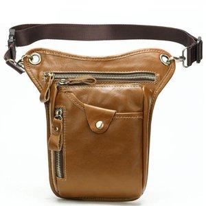 Designer-Casual Multi-function Waist Bag Men Vintage Genuine Leather Outdoor Mens Leg Riding Sport Bags New Fanny Pack For Men Waterproof