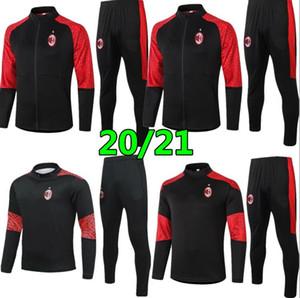2020 Milan Kaka Veste de Suite Jacket Formulaire Supports Soccer Tracksuits 2021 Piatek Ibrahimovic Tracksuit Football Veste Tracksuit Set Hi Hi