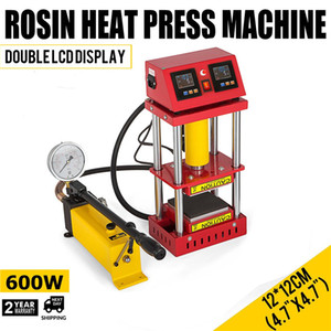 AR1701 800W 15Ton Manual Hydraulic Rosin Heat Press Machine 4.7x4.7 inch Press Plates Dual Heating Extractor Oil Wax Herb Extracting