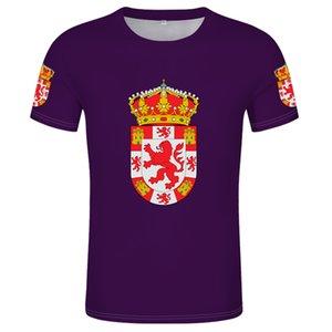 Drapeau de Cordoue T-shirt Free Nom personnalisé Espagne Drapeaux provinciaux T-shirt Espagne Andalousie Région autonome Imprimer Drapeau Vêtements