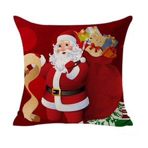 Eco-Friendly Christmas Decoration Pillow Case Gift Home Square Cover Throw Sofa Cushion Cover Pillow Case Decor Sofa Bed Car Room FWE2514