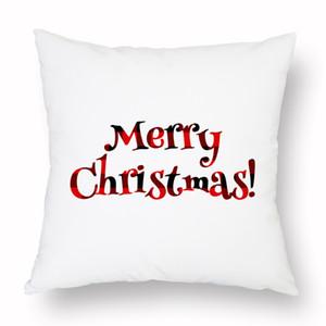Noel Yastık Kılıfı Ekose Merry Christmas Yastık Kapakları Noel Ağacı Geyik Kamyon Yastık Ev Partisi Dekoratif 16 Stilleri GGB2948