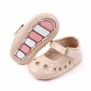 Baby Girls Shoes Toddler Infant Anti-slip Star PU First Walkers Shoes Newborn Crib Shoes