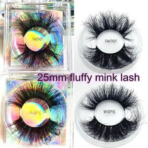 20-50 pairs Fluffy Lashes 25mm 3d Mink Lashes Wholesale In Bulk Dramatic Long Natural Eyelashes Makeup Mink Eyelashes