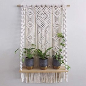 Ins Nordic Style Hand-woven Tapestry Rack Bedroom Living Room Home Hotel Homestay Decoration