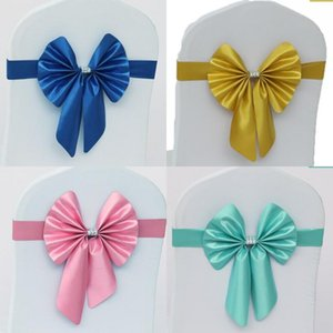 Wedding Ceremony Chair Back Flower Hotel Butterfly Knot Elastic Chair Covers Sashes Chairs Bandage New Arrival 1 7hl L1