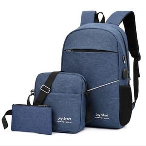 USB business computer backpack casual backpack men and women handbags mini clutch bag messenger bag handbag shoulder bag wallet three in one