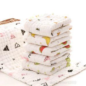 Muslin Towels Cotton Gauze Burp Cloths Soft Baby Face Towel Newborn Handkerchief Infant Washcloth 17 Designs 1000pcs OWF2531