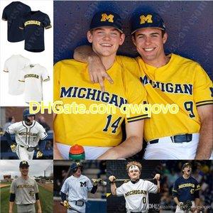 Michigan Beyzbol Forması 42 Nwogu Jack Blomgren Clark Elliott Dominic Clementi Riley Bertram Joe Donovan Danny Zimmerman Ted Burton Cam Hart