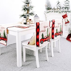 Christmas Table Runner Tablecloth Cotton Linen Table Cover Xmas Tree Flag Table Dress Tablecloth Eating Mat Christmas Decorations Wholesale