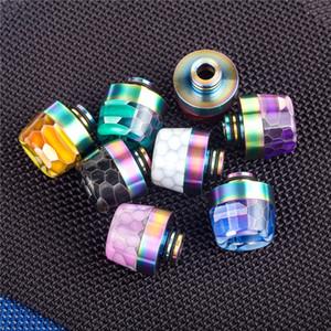 510 810 drip tip Rainbow Snake Skin Shape long Epoxy Resin TFV8 Drip Tip fit TFV8 Baby TFV12 Prince 510 810 Atomizers