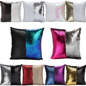 glitter sequin pillowcase glitter mermaid cushion cover pillow magical throw pillow case home decorative car sofa pillowcase