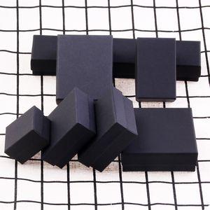 51dko Black multifunctional necklace ring hoisting packing kraft paper Kraft paper jewelry Ring jewelry box stud box