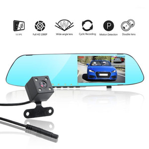 LEEPEE Dual Channel Rearview Mirror Driving Recorder Video Car DVR Dash Camera IPS Screen Night Vision Reversing Image 30CM1